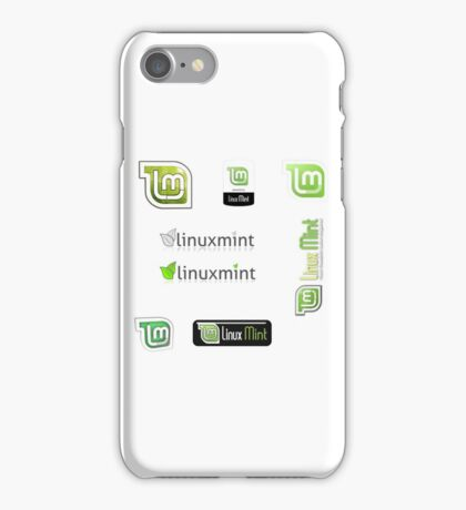 linux mint stickers set iPhone Case/Skin