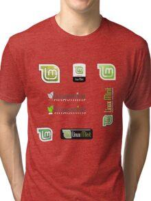 linux mint stickers set Tri-blend T-Shirt