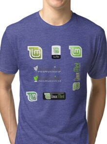 linux mint stickers set Tri-blend T-Shirt