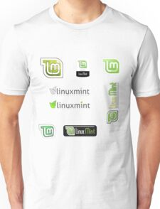 linux mint stickers set Unisex T-Shirt
