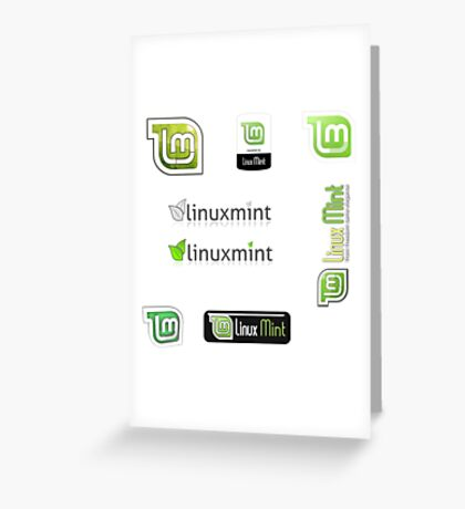 linux mint stickers set Greeting Card