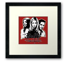 A Trio of Scoobies (Willow, Buffy & Xander) Framed Print