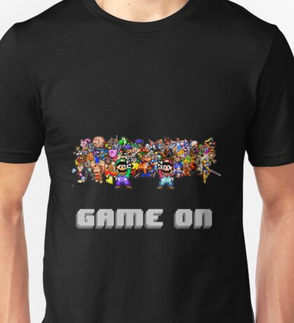 Game On! Video Game Crowd with Mario and Luigi Unisex T-Shirt