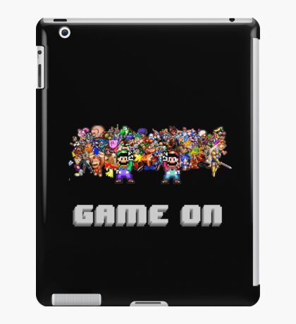 Game On! Video Game Crowd with Mario and Luigi iPad Case/Skin