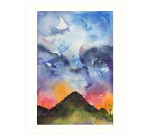 Dramatic Mountain Sky Art Print