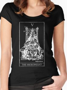 The Hierophant Tarot V Women's Fitted Scoop T-Shirt