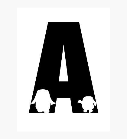 A is for Adipose Photographic Print