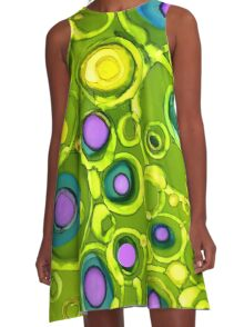 Green With Envy A-Line Dress