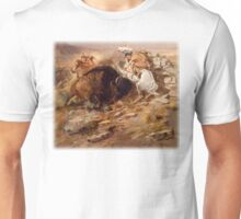 Charles M Russell - Buffalo Hunt Unisex T-Shirt
