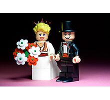 Lego Bride and Groom ( with top hat ) Photographic Print