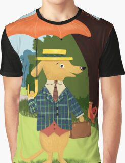 Mister Barkly Goes To The Park Graphic T-Shirt