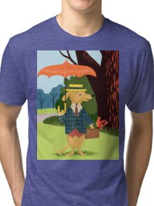 Mister Barkly Goes To The Park Tri-blend T-Shirt