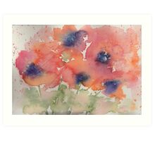 Fluid Poppies Art Print