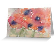 Fluid Poppies Greeting Card