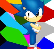 Sonic technicolor mosaic (UNOFFICIAL) Sticker