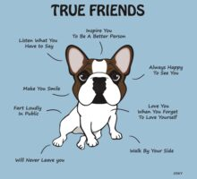 True Friends Frenchie  One Piece - Short Sleeve