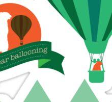 Hot Bear Ballooning Sticker