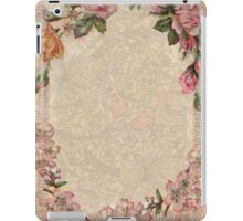 Old Rose Vintage Flowers Pink Antique Girly iPad Case/Skin