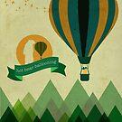 Hot Bear Ballooning by modernistdesign