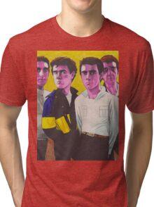 Pink Wire Tri-blend T-Shirt