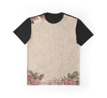 Old Rose Vintage Flowers Pink Antique Girly Graphic T-Shirt