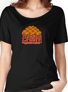 Waffle bacon logo Women's Relaxed Fit T-Shirt