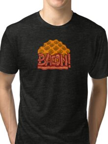 Waffle bacon logo Tri-blend T-Shirt