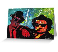 Blues Brother in full color Greeting Card