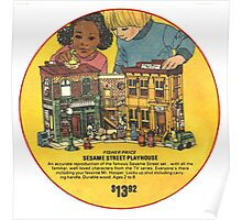 Fisher Price Sesame Street Playhouse Ad Poster