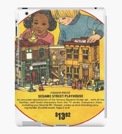 Fisher Price Sesame Street Playhouse Ad iPad Case/Skin