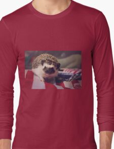 Patriotic Hedgehog Long Sleeve T-Shirt