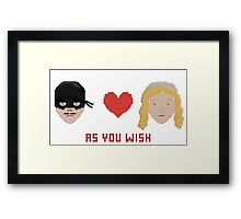 Westley and Buttercup, The Princess Bride - As You Wish, Pixels Framed Print