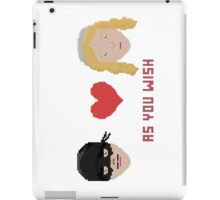 Westley and Buttercup, The Princess Bride - As You Wish, Pixels iPad Case/Skin