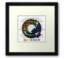 Queer Sci Fi - A is For Ace - Transparent Framed Print