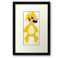 8bit Big Cat Mario Framed Print