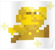 8bit Gold Mario Poster