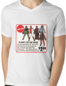 Mego Planet of the Apes Action Figures Mens V-Neck T-Shirt