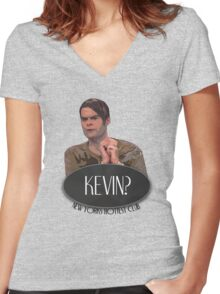 'Kevin?' - Stefon, Saturday Night Live Women's Fitted V-Neck T-Shirt