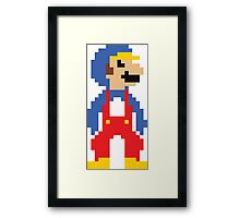 8bit Big Penguin Mario Framed Print