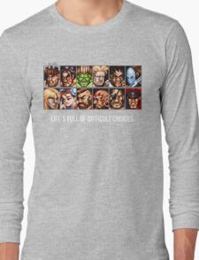 Street Fighter 2 Choices Long Sleeve T-Shirt