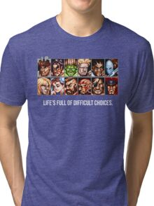 Street Fighter 2 Choices Tri-blend T-Shirt
