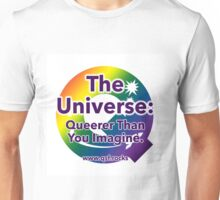 QSF Universe Logo - White Unisex T-Shirt