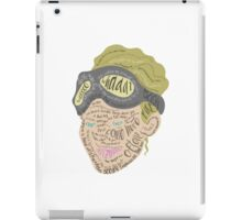 Holtzmann Quotes Typography iPad Case/Skin
