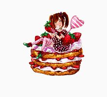 Strawberry Shortcake Watercolor Painting Unisex T-Shirt