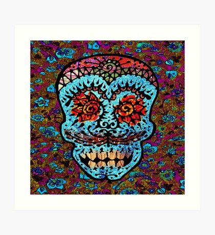 'Sweet Sugar Skull #3' Art Print