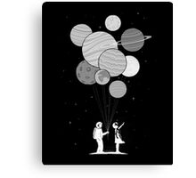 Between planets and balloons. Canvas Print