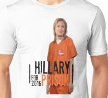 Funny Hillary For Prison '16 Democrat OITNB Orange Is The New Black Netflix Anti Hillary Clinton Piper Chapman Donald Trump Bernie Sanders Unisex T-Shirt