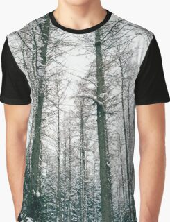 Winter Trees In The Sky Graphic T-Shirt