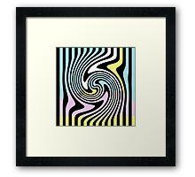 Black and White Swirl  Framed Print