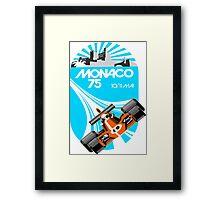 Monaco Grand Prix Poster Framed Print